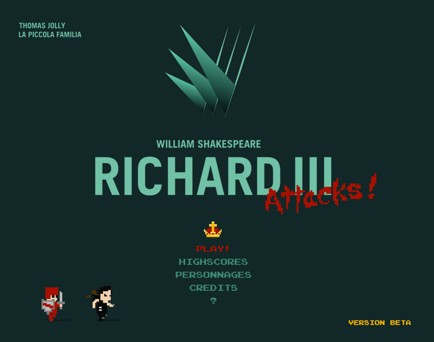 Richard III Attacks! Shakespeare en jeu video.